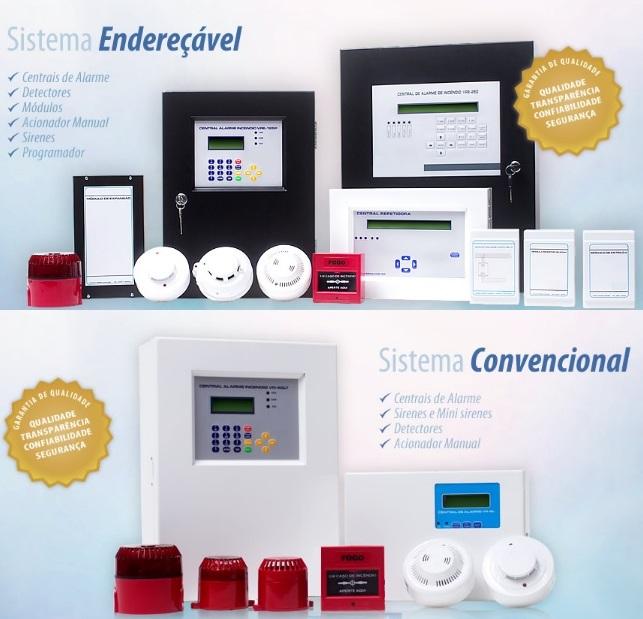 Acessórios para sistema detecção de Alarme de Incêndio