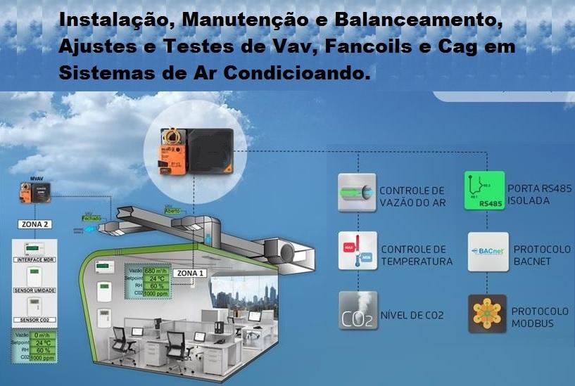 Manutenção e Serviços especializados de Balanceamento, Ajustes, Teste de VAV, Fancoils, CAG, Implantação de Sistemas de Automação de Ar Condicionado de CPD's.