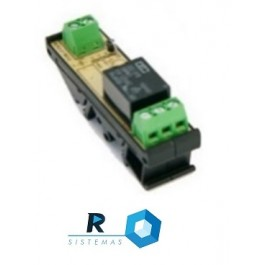 Relé acionamento 24 Vac_Vcc ou 220 Va, 1 contato normal aberto, 1 contato normal fechado