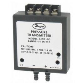 """Sensor de pressão diferencial para ar (0-1"""", 0-2"""", 0-3"""", 0-4"""", 0-5"""" WC) - 4-20mA ou 0-10 Vdc - 616K-01"""