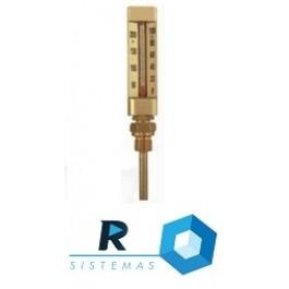 Termômetro Capela - Escala 0 - 50 C - Liquido Vermelho - Reto - Haste 50 mm - Rosca 1_2 BSP